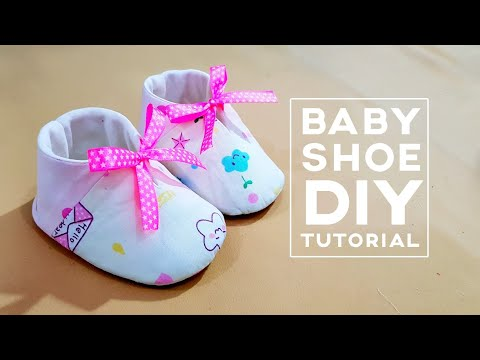 How to make a lovely baby shoe | Baby shoe diy tutorial | 粉嫩的婴儿鞋,太可爱了吧!!!马上动手做!!! ❤❤