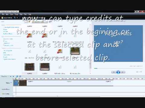 how to put titles on moviemaker