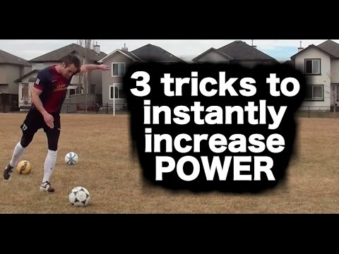 how to kick a soccer ball WITH POWER ► how to shoot a football with power