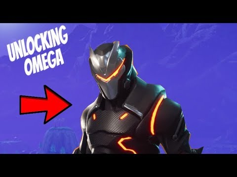 UNLOCKING TIER 100 OMEGA IN FORTNITE BR!! (WINNING IN MY FIRST GAME... AGAIN!!)