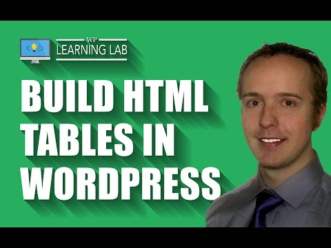 Build HTML Tables In WordPress | WP Learning Lab