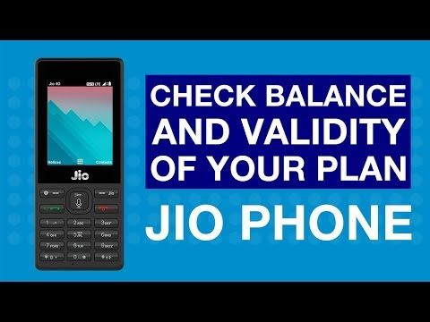 JioCare - How to Check Balance and Validity of your Plan on Jio Phone (Hindi) - Reliance Jio