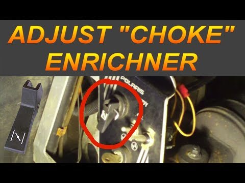 How To Adjust Snowmobile Choke/Enricher for Mikuni ✔