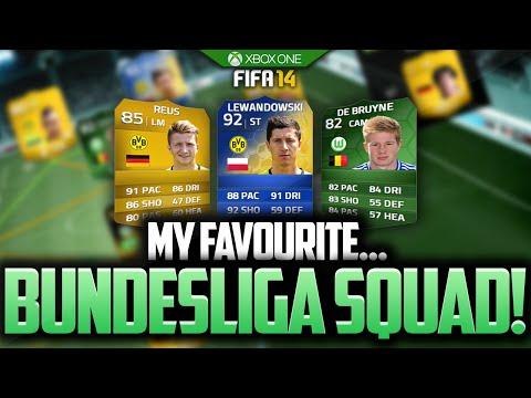 MY FAVOURITE...BUNDESLIGA SQUAD! FIFA 14 ULTIMATE TEAM BEST PLAYERS!