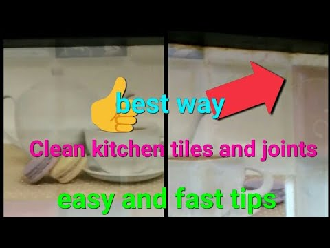 how to clean kitchen tiles | best way to clean kitchen tiles | tile kaise saaf kare | grout cleaner