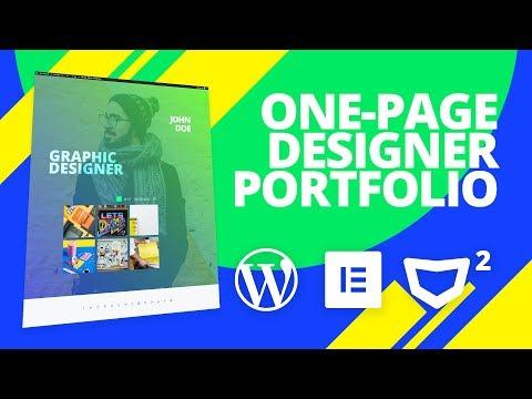 Graphic Designer CV - One Page Website #WordPress #Elementor #Monstroid2