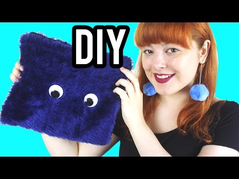 DIY Furry Clutch with Eyes | Make Thrift Buy #32