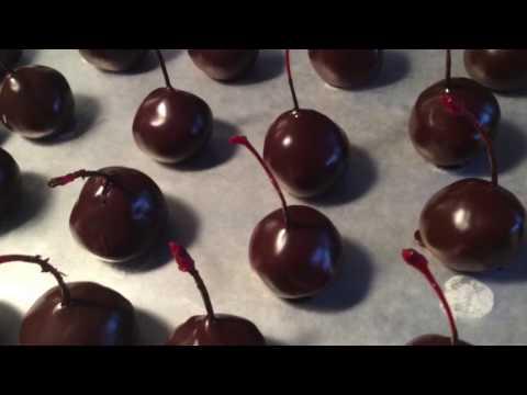 Making Cherry Chocolates
