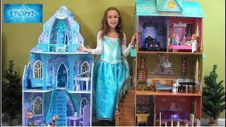 Princess Story: Frozen Princess Anna and Queen Elsa Sleepover in NEW Arendale Palace