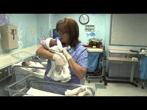 Infant - Nurse - Newborn - Baby - Hospital - Nursery - Stock Footage