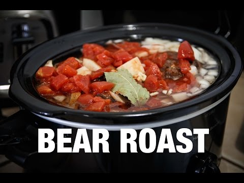 COOKING A BEAR NECK | Easy Slow Cooker Pot Roast (How To)