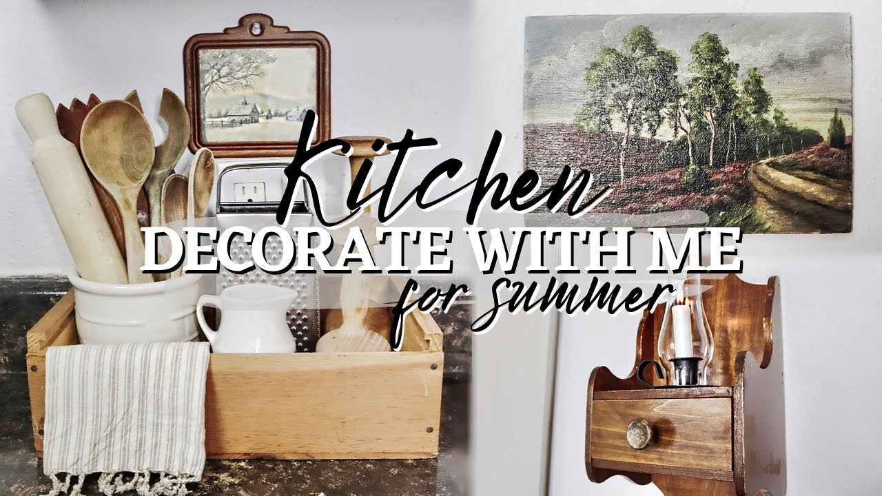 DECORATING MY KITCHEN FOR SUMMER! | Vintage Farmhouse, Country Decor! | Styling Thrift Store Decor