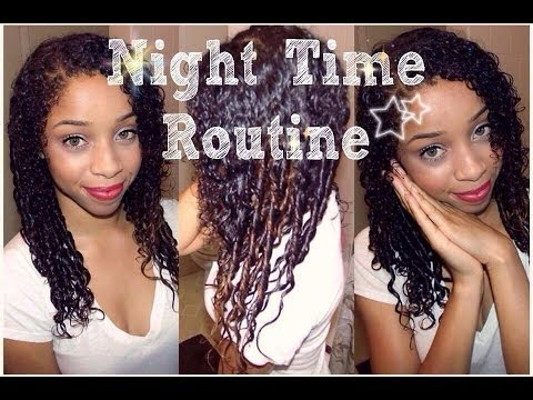 ♡ Night Time Curly Hair Routine ♡