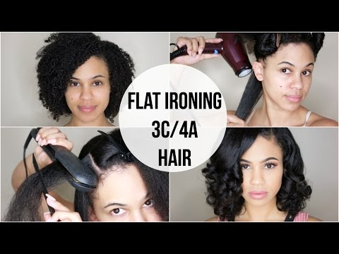 Curly to Straight   Flat Ironing My Natural Hair (3C/4A)
