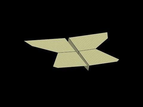 Sloop Paper Airplane: 3D Folding