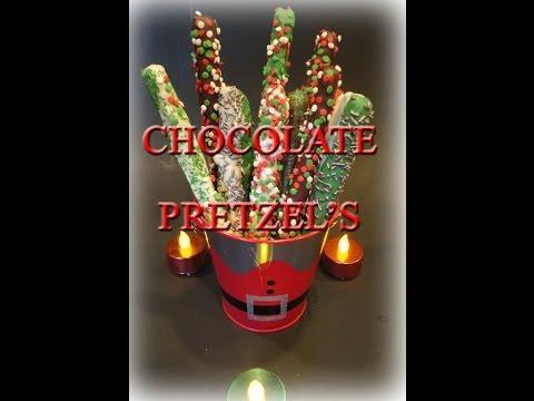 How to make Festive Chocolate Pretzel's