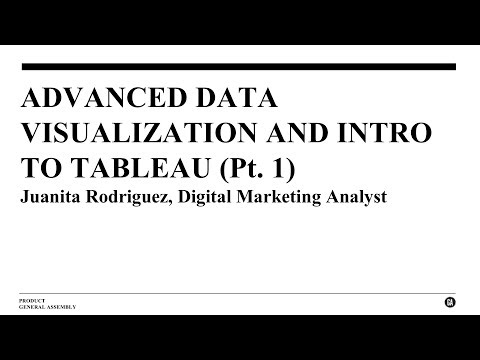 Advanced Data Visualization and Intro to Tableau, Part 1