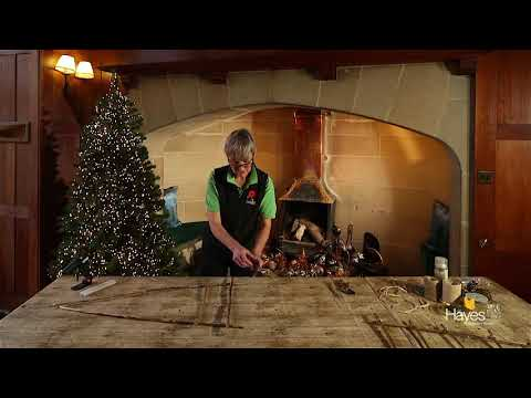 How to make a hanging twig tree for Christmas