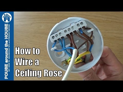 How to wire a ceiling rose - lighting circuits explained. Ceiling rose pendant install!