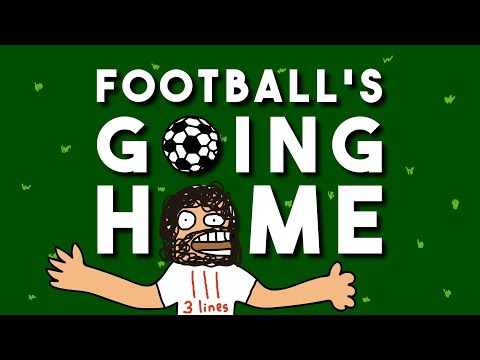 ♪ FOOTBALL'S GOING HOME (3 Lines on a shirt) ♪