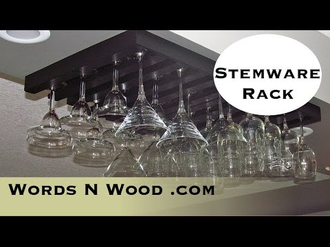 Elegant Stemware Storage Rack (WnW#20)