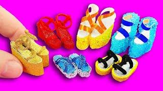 10 DIY Barbie Shoes & Boots & Sandals  ~  Como hacer ZAPATOS para MUÑECAS Barbie