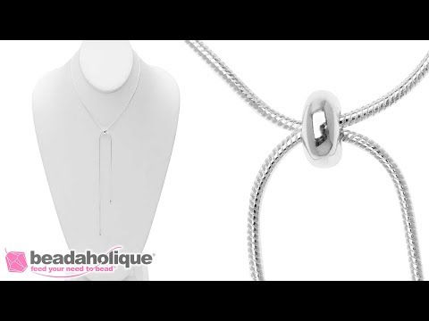 How to Make a Quick and Easy Adjustable Slider Necklace