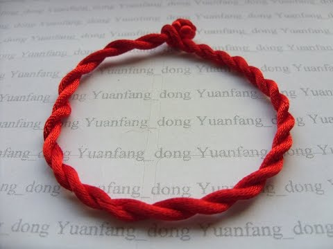 HOW TO MAKE A GOOD LUCK RED CORD BRACELET (UNDER 5 MINUTES!)