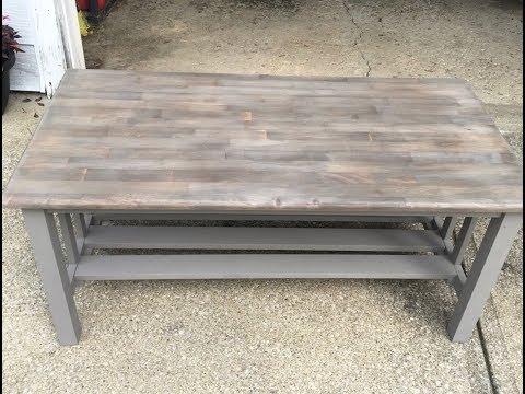 DIY Driftwood Gray Bench Makeover