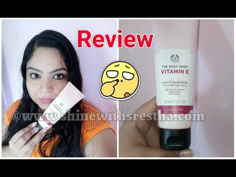 The Body Shop Vitamin E Gentle Facial Wash Review |