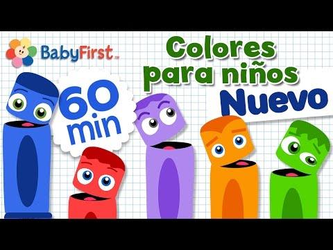Aprender los Colores en Español para los Niños   Learn Colors in Spanish for kids   Video de 1 Hora