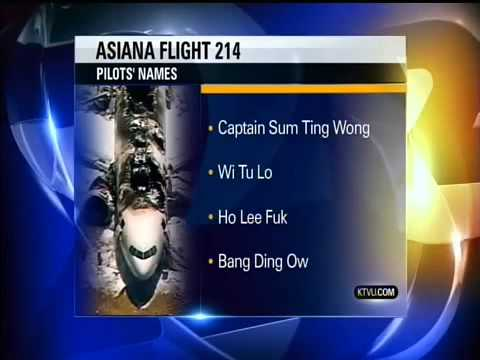 Oakland News Station Releases Asiana Pilots Names: