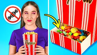 IF MY DAD RUNS A MOVIE THEATER || Useful How To Sneak Food And Funny Situations by 123GO! SCHOOL