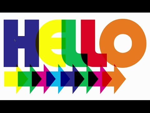 Multi-Colored Text With Transparency Effect in CorelDraw X8 | The Teacher