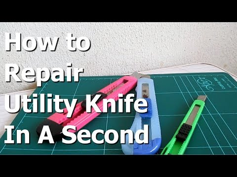 How to Repair stationary utility cutter knife and Change Cutter Blade Refill