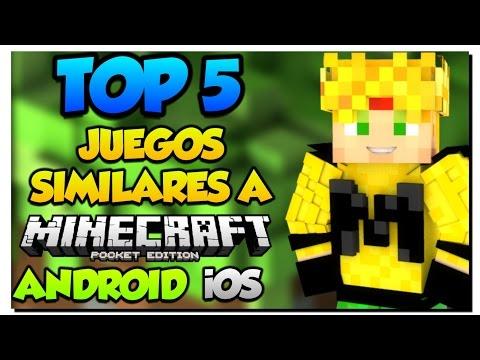 TOP 5 - Mejores Juegos Copias Minecraft PE en Android - iOS - Como Pocket Edition