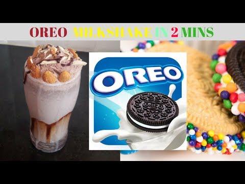 Quick Oreo Milkshake || Chocolate Milkshake ||Dessert Ideas || milkshake without icecream