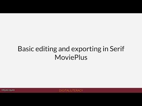 Shiplake News (2018):  Basic editing and exporting in Serif MoviePlus