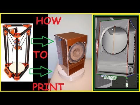 How to make a 3D Printed Speaker Box   Meshmixer   Delta Printer