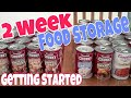 REALITY! 2 WEEK FOOD STORAGE - Great way to get started!