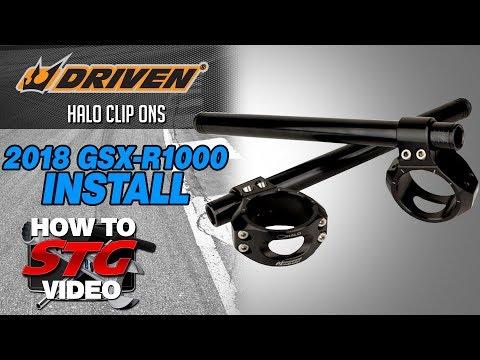 Driven Suzuki GSX-R1000 Halo Clip Ons Install | Sportbike Track Gear
