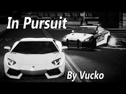 GTA IV - In Pursuit! [Nissan GT-R vs Lamborghini Aventador]