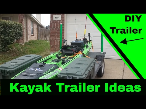 Things to consider when building your kayak trailer