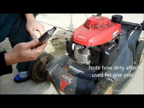 How to change spark plug for Honda lawn mower HRX217VKA.  Honda Mower maintenance