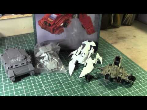 Warhammer 40k Vehicles to make wrecked terrain.