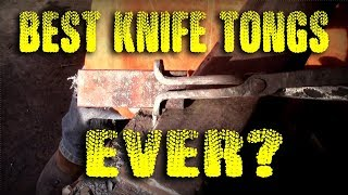 Forging the Best Knife Tongs Ever!!!!