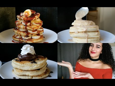 Fluffy pancakes 3 ways | Choc Chip, Mokka-caramel & Cinnamon roll
