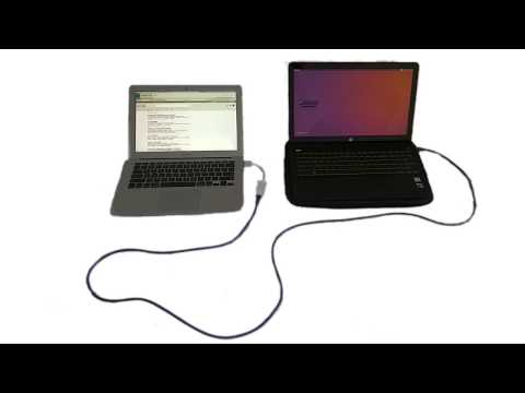 Network connection between two laptops with Mac OS and Ubuntu linux via one cable