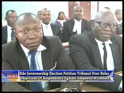 Edo tribunal struck out objections of counsel to respondents against subpoena witnesses