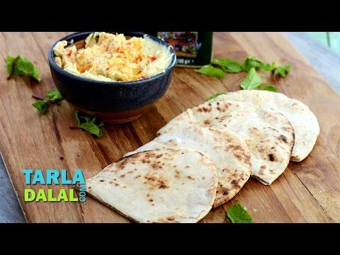 Pita Bread/How to Make Popular Lebanese Bread Recipe/ Homemade Pita Pockets by Tarla Dalal